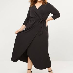 3/4 Length Faux Wrap Dress
